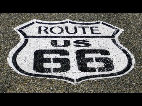 Route 66  - L.A. to Chicago (On the road and road stops montage)