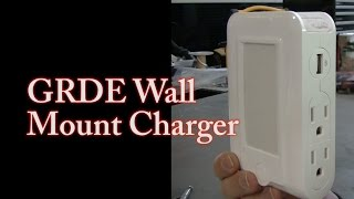 "GRDE Wall Mount Charger USB & Night Light ""Amazon Product Review"""