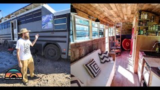 Diy Raised Roof School Bus Conversion - Off The Grid Tiny House
