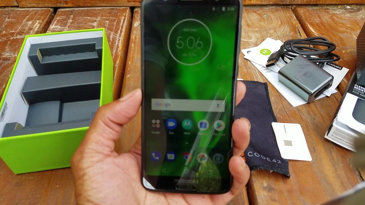 New Lenovo Motorola Moto G6 Unboxing 2018 (Initial Setup and First Thought)  Unlocked USA
