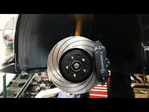 Тюнинг тормозов Subaru - TAROX 6 Pot Brakes Installation - Строим Субару для гонок בלמים ספורט TAROX