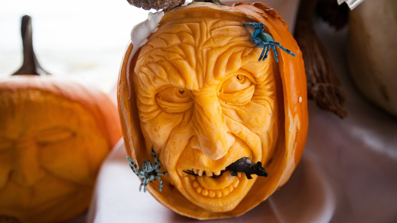 Halloween pumpkin carving tips from Anchorage master food carver