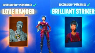 FORTNITE V BUCKS SPENDING SPREE BUYING LOVE RANGER AND BRILLIANT STRIKER NEW ITEM SHOP