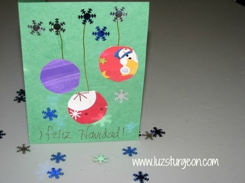 Tarjetas de navidad s per f ciles youtube - Tarjetas de navidad faciles ...