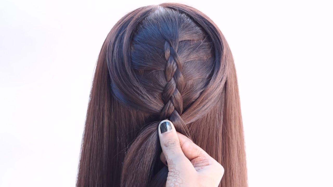 3 unique hairstyle for festival look   unique hairstyle   braid hairstyle   hairstyle for girls
