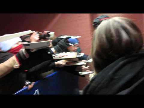 Keanu Reeves signing autographs promoting 47 Ronin