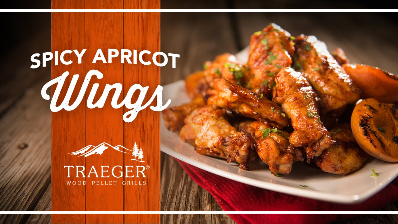 Perfect Game Day Spicy Apricot Wings | Traeger Grills - YouTube