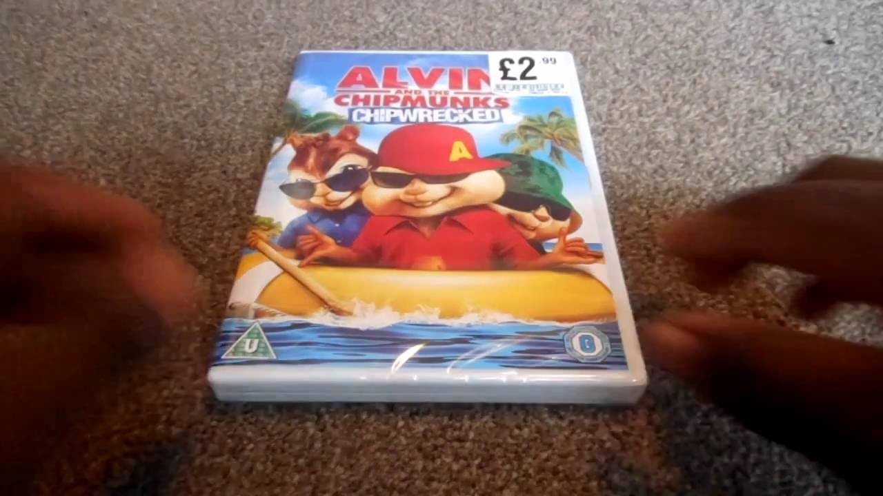 alvin and the chipmunks chipwrecked uk dvd unboxing youtube