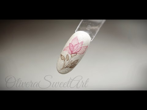 Nail Art Tutorial - X-RAY Aquarelle FLOWER with Sparkly Sugar Effect thumbnail