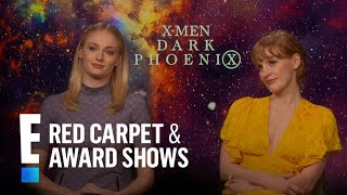 Sophie Turner And Jessica Chastain Play Strong Women In Dark Phoenix  E Red Carpet And Award Shows