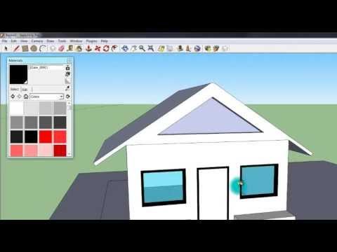 วิธีทำโมเดล(บ้าน) 3 มิติง่ายๆ ด้วย Google SketchUp Part2