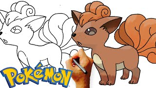 How to Draw Vulpix Pokemon Step by Step Art Lesson