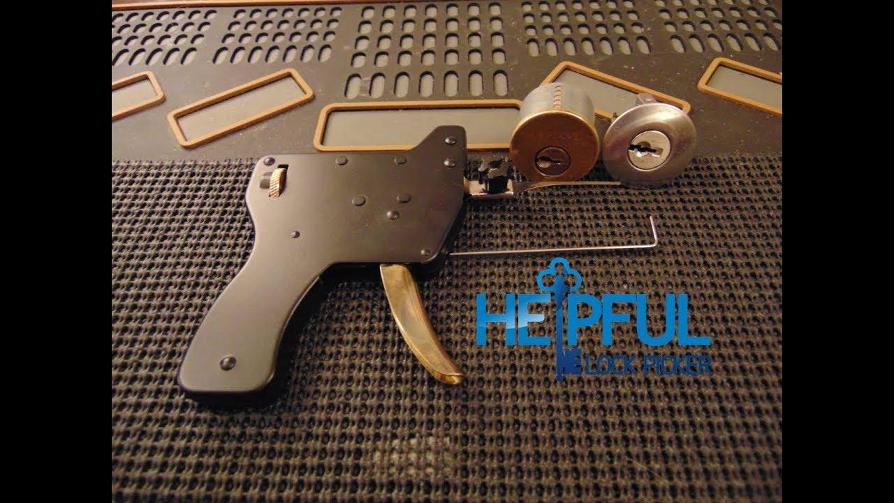 [98] How To Pick A Lock With A LockPick Gun (Snap Gun)