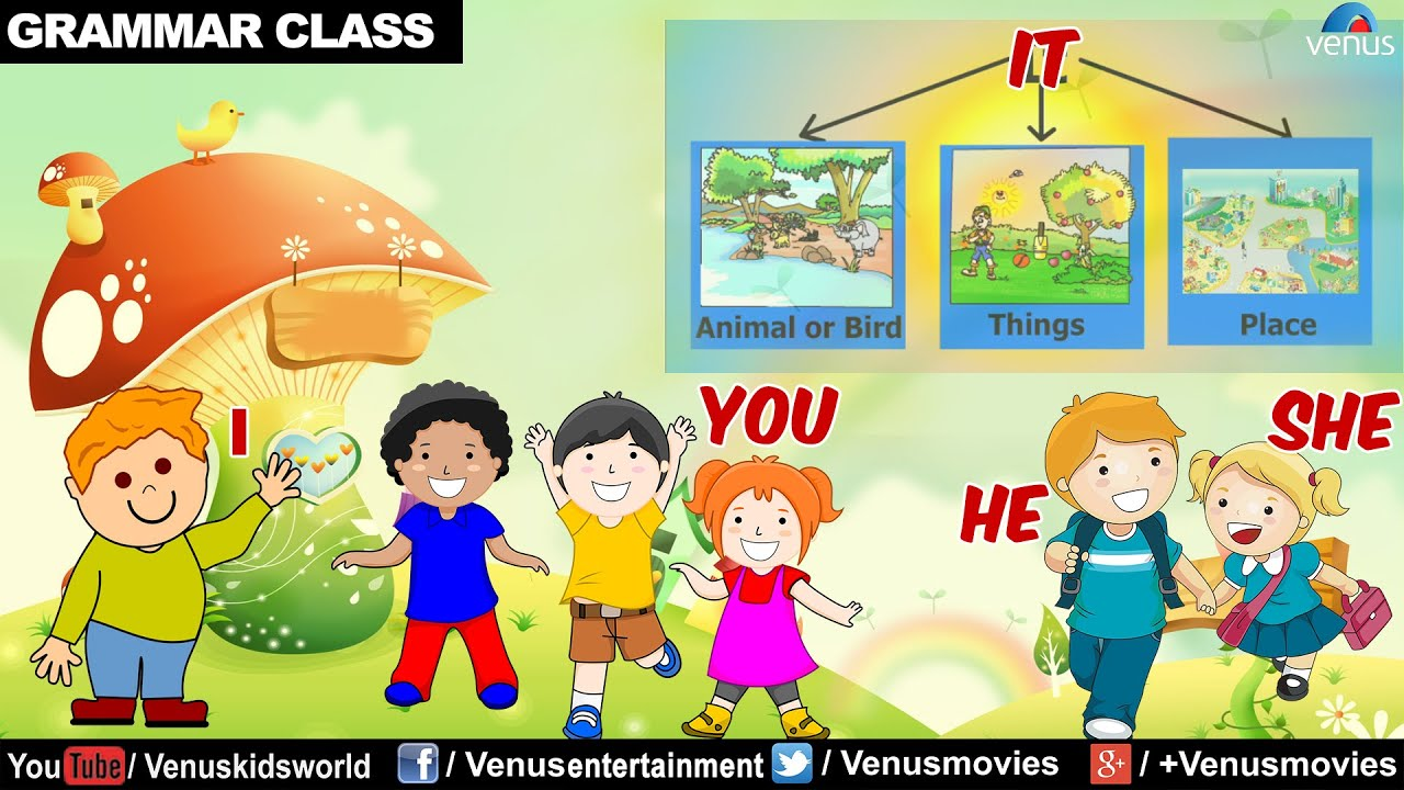 I You He She It English Grammar For Kids Youtube Many of us were taught to be suspicious of me, as though uttering this dirty word would make us sound uneducated. i you he she it english grammar for kids