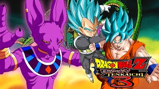 God of destruction beerus vs the ssgss goku & vegeta | dragon ball z: budokai tenkaichi 3 mods