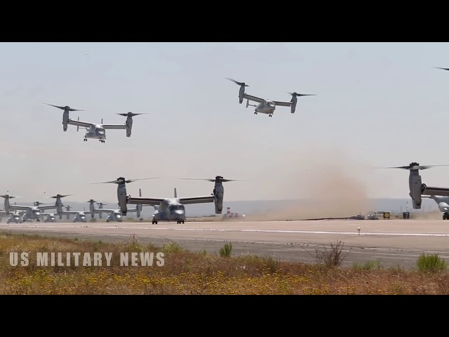 U.S. Marine Corps Demonstrates Awesome Combat Power During Mass Launch