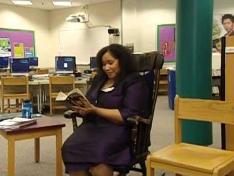 """Dr. Shamira reading excerpts from """"Coming of Age In Mississippi""""  on February 4, 2015."""
