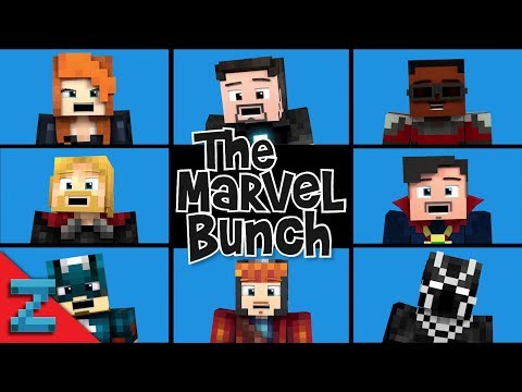 """""""The Marvel Bunch"""" Avengers: Infinity War (Minecraft Animated Music Video)"""