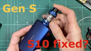Vaporesso Gen S - Dismantle, compąrison to the original and trying to break the 510