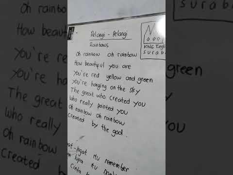 Pelangi-pelangi (English Version)