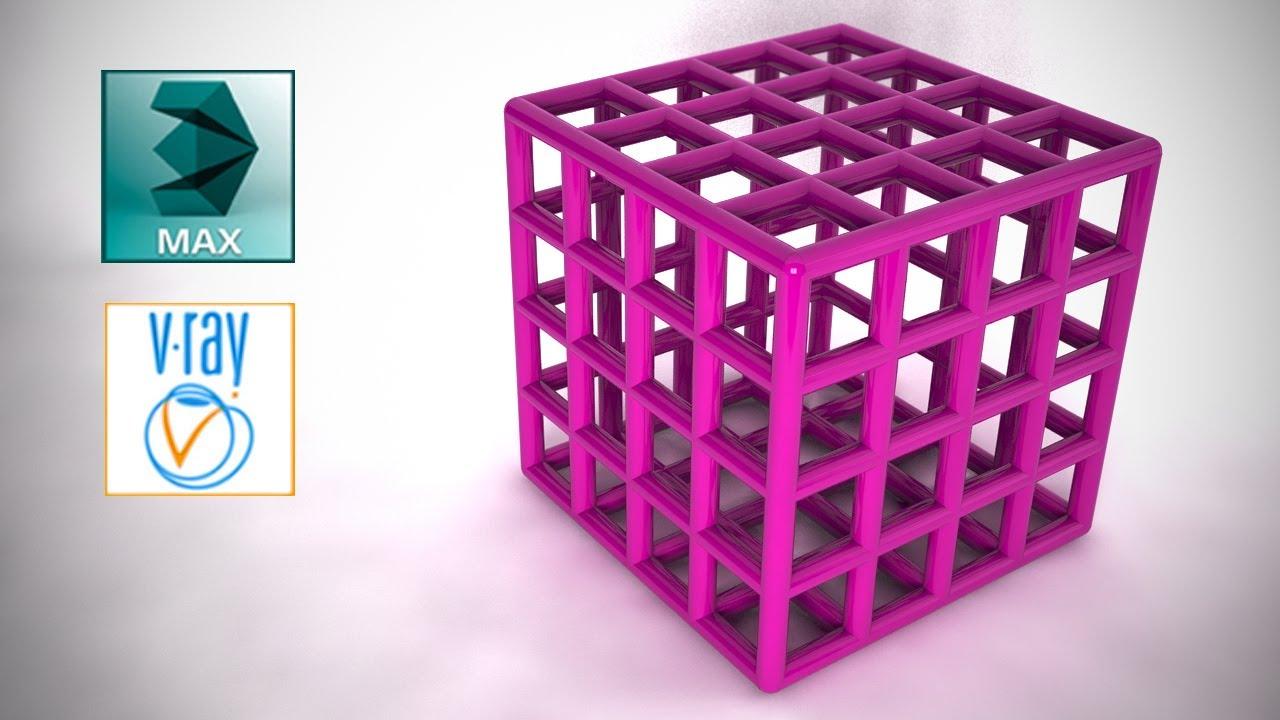3DS Max Modificador Lattice - YouTube