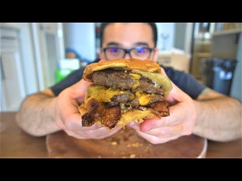 The Perfect DOUBLE BACON CHEESE BURGER