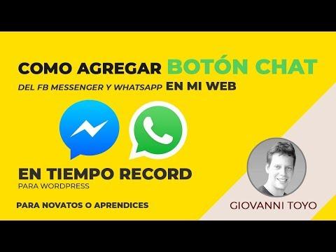 Cómo Agregar Botón Chat Del Fb Messenger Y Whatsapp En Mi Web