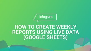 How to create weekly reports using live data (Google Sheets)