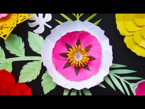 How to Make Cutting Paper Flowers Easily | DIY: Handmade Paper Flower Craft