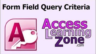 Getting a Value from a Form for Query Criteria in MS Access
