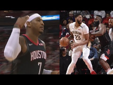 Carmelo Anthony Rockets Debut Comes Off Bench! 2018-19 NBA Season
