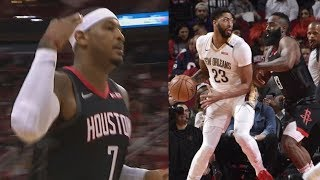 Carmelo Anthony Rockets Debut Comes Off Bench! 2018-19 NBA Season