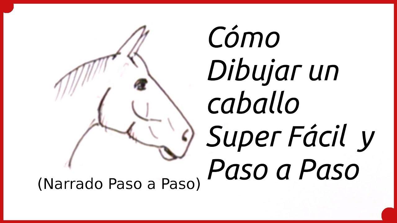 Como dibujar un caballo super f cil y paso a paso ni os - Como hacer un estor enrollable paso a paso ...
