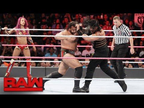 Roman Reigns & Sasha Banks vs. Rusev & Charlotte - Mixed Tag Team Match: Raw, Oct. 10, 2016