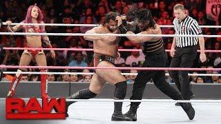 Roman Reigns & Sasha Banks Vs. Rusev & Charlotte   Mixed Tag Team Match: Raw, Oct. 10, 2016