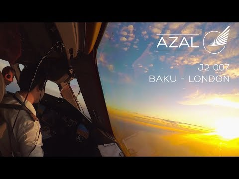 Cockpit timelapse: From Baku (GYD) to London (LHR) - Azerbaijan Airlines