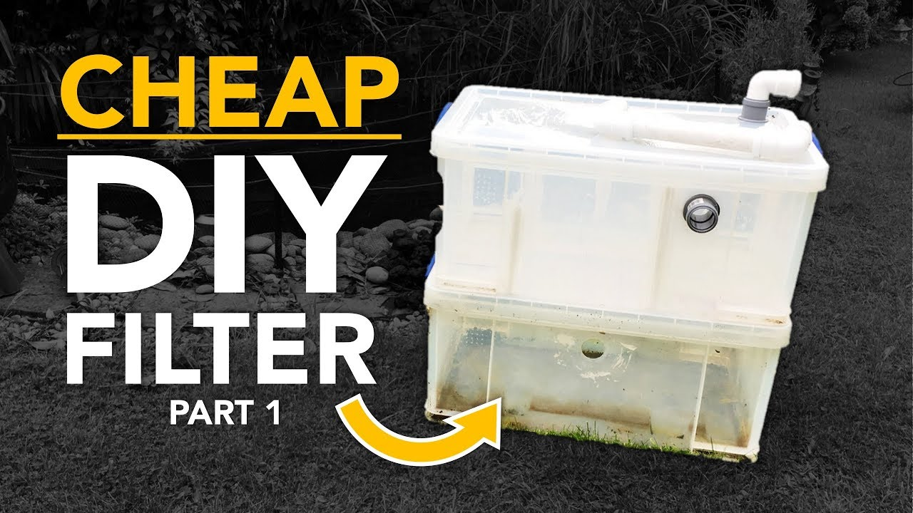 HOW TO: CHEAP DIY POND FILTER