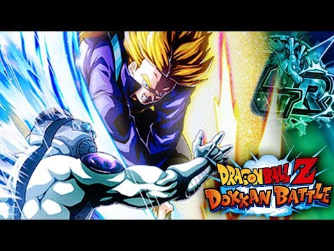 BURNING SLASH ATTACK! LR SUPER SAIYAN TRUNKS DOKKAN AWAKENING! | Dragon Ball Z Dokkan Battle JP