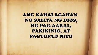 Download lagu Salita ng Diyos, KAHALAGAHAN NG SALITA NG DIOS,   (Tagalog Bible Lesson)
