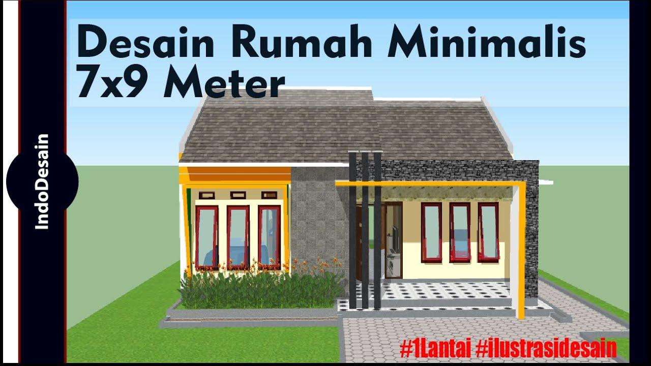Desain Rumah Minimalis 7x9 Meter 3 Kamar Tidur Youtube