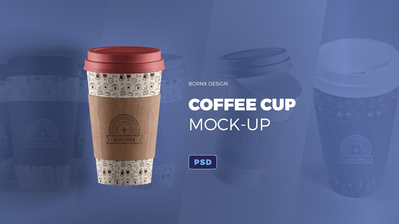 Coffee Cup Photoshop Mock-Up Template - YouTube