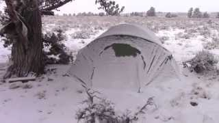 Winter Desert Car Camping - Winter Camping in Snow and Subzero