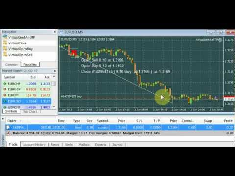 MT4 virtual limit orders for trading inside stoplevels