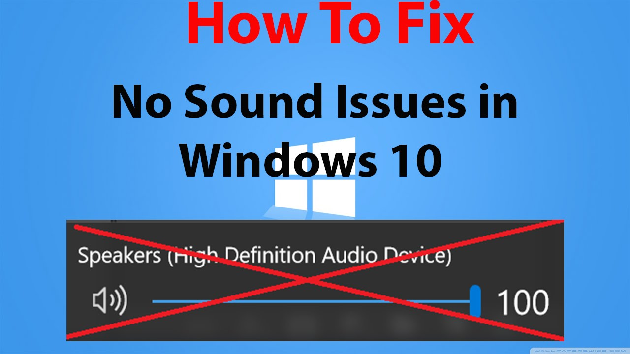 how to fix sound