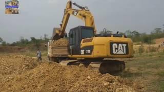 รถขุด CAT 315DL ลอกดินทุ่งนา [HEAVY MACHINES IN THAILAND]
