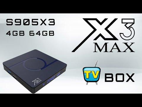 Cheapest X3 Max Amlogic S905X3 4GB 64GB TV Box