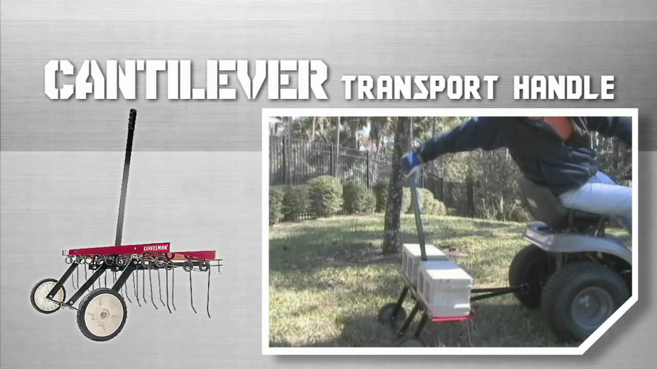 Craftsman Tractor Attachments Tine Dethatcher Youtube
