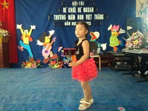 Mầm non Việt Thắng hội thi  bé khỏe bé ngoan ăn trộm trứng của bé Chu Ngọc Linh lớp 4 tuổi A