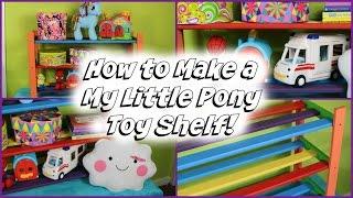 DIY Rainbow Toy Shelf