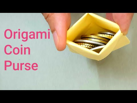 How to make origami coin purse, very easy